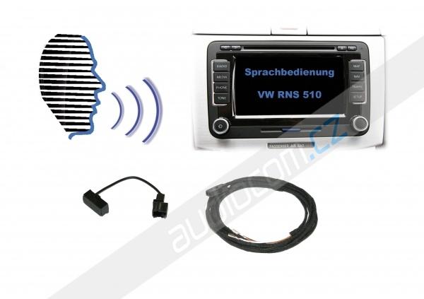 Hlasové ovládání - Retrofit - VW RNS 510 / ŠKODA COLUMBUS - pro navigace bez originální HF sady