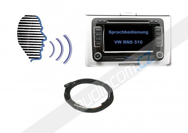 Hlasové ovládání - Retrofit - VW RNS 510 / ŠKODA COLUMBUS - pro navigace s originální HF sadou