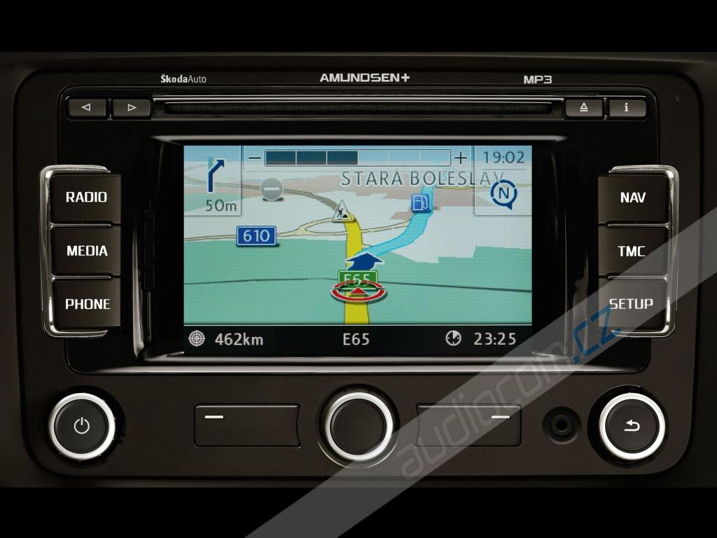 Navigační SD karta Škoda Amundsen+ / VW RNS 315 Západní Evropa 2016 V8