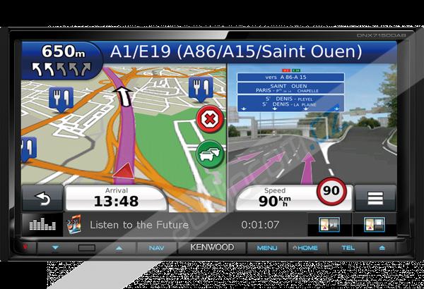 Navigace KENWOOD DNX-7150DAB SEAT / ŠKODA / VW (odnímatelný panel)