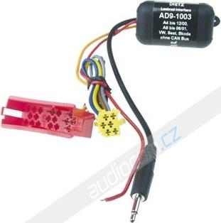 Adaptér pro ovládání na volantu JVC - ŠKODA / VOLKSWAGEN AD9-1003
