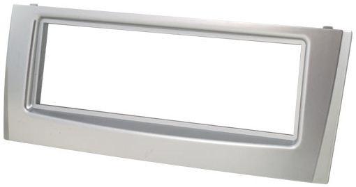 Rámeček autorádia FIAT Grande Punto, Linea - stříbrný