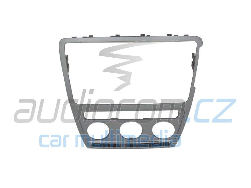 Krycí rámeček k autorádiu Škoda Octavia II. s aut. klimatizací - stříbrný