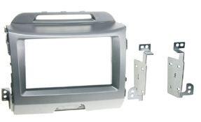 Rámeček autorádia KIA Sportage III - stříbrná