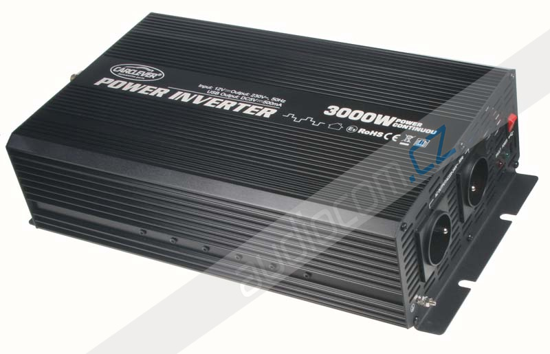 Měnič napětí z 12/230V + USB 3000W