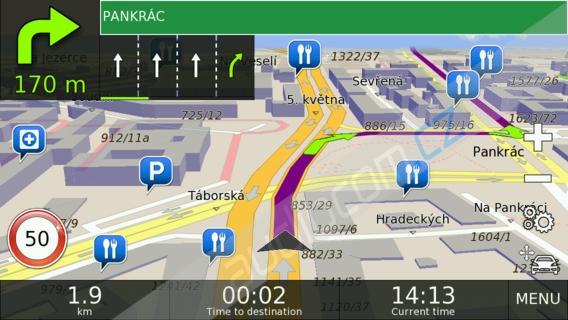 Doživotní aktualizace map NAVTEQ Evropa (Android)
