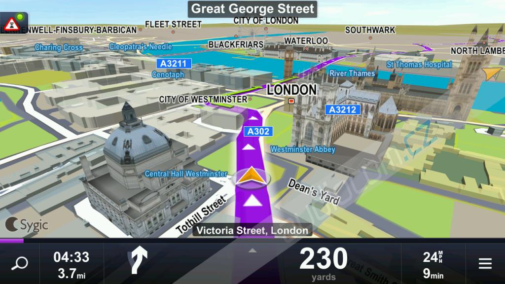 Doživotní aktualizace map SYGIC Evropa (Android)