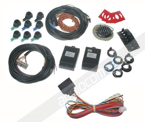 Originální zadní + přední parkovací senzory se zobrazením na navigaci VW / Škoda / Seat