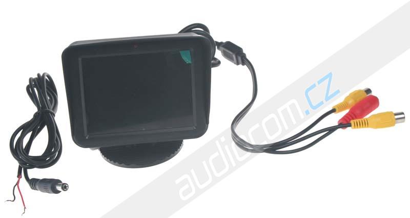 """LCD monitor 3,5"""" černý na palubní desku"""