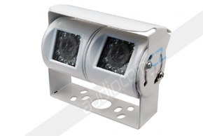 CCD dvojitá zadní parkovací kamera - bílá