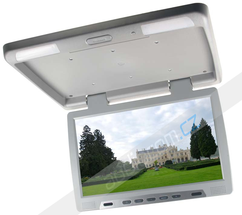 """Stropní LCD monitor 15,6"""" USB/SD šedý neotočný"""