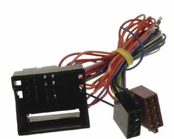 ISO adaptér pro autorádia s originálním konektorem FAKRA (MOST) pro (04->) AUDI / VW / SEAT / ŠKODA