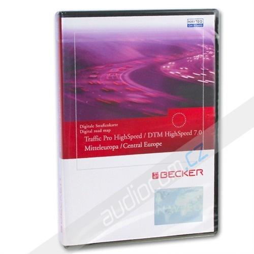 Navigační CD T1000-12341Traffic Pro / DTM High Speed V 7.0- Střední EVROPA - pro Becker