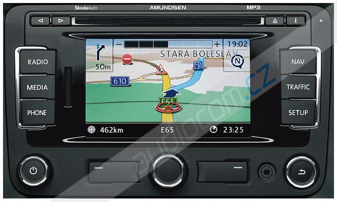 Navigační SD karta ŠKODA, VW, SEAT FX - Západní Evropa 2016 (SD karta)