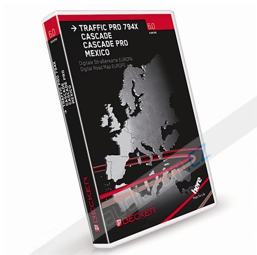 Navigační CF (Flash karta) - EVROPA 2014/2015 pro BECKER Traffic Pro 794x / Cascade / Cascade Pro / Mexiko - V6.0