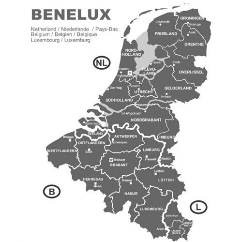 Navigační CD-ROM FX - mapa Benelux 2011