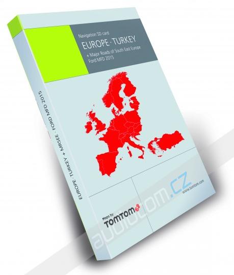 Navigační SD karta FORD MFD 2016 Evropa + Turecko