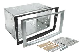 Instalační sada 2DIN OPEL Astra / Corsa D / Zafira B - stříbrná matná