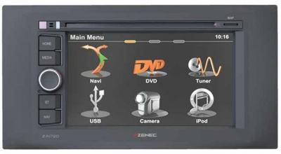 Navigace ZENEC Z-N720 FORD C-Max / S-Max / Fiesta / Mondeo / Kuga / Fusion / Galaxy II