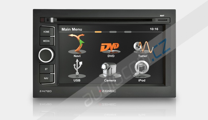 Navigace ZENEC Z-N720MH Univerzál 2DIN pro kamiony / obytné vozy