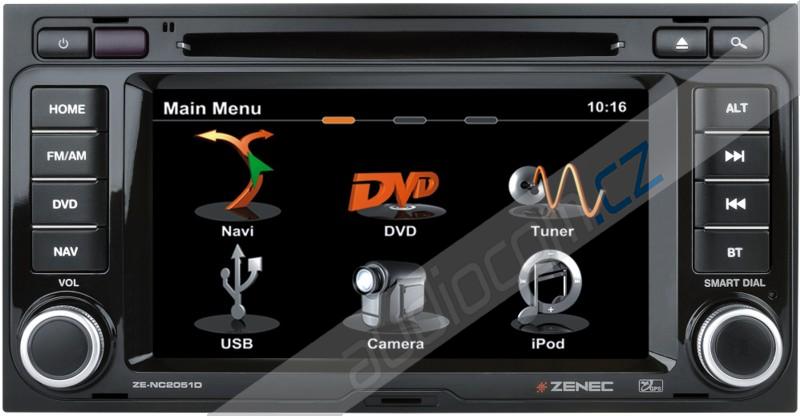 Navigace ZENEC ZE-NC2051D VW T5 Multivan a T5 California