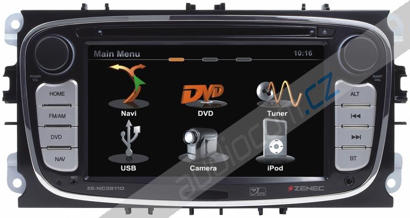 Navigace ZENEC ZE-NC3811D - FORD Mondeo / Focus / S-Max / Galaxy