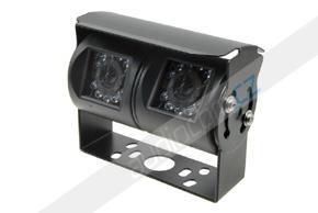 CCD dvojitá zadní parkovací kamera - černá