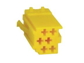 Konektor MINI ISO 6-pin bez kabelů - žlutý